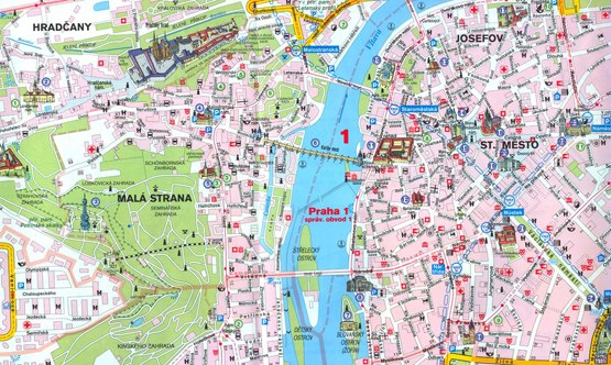 Mappe di Praga da stampare